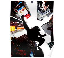 Jumping In Time Square Poster