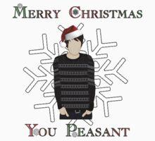 (STICKER) Merry Christmas You Peasant (danisnotonfire)  by scruffyjate