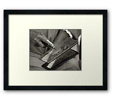 Carding Cotton Framed Print