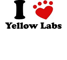I Heart Yellow Labs by kwg2200