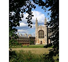Kings College Chapel, Cambridge Photographic Print