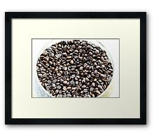 Brazil. A bowl of fresh coffee beans Framed Print