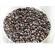 Brazil. A bowl of fresh coffee beans Poster