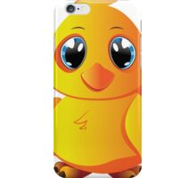 Cute cartoon yellow chicken with blue eyes. iPhone Case/Skin