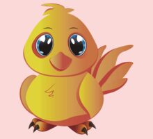 Cute cartoon yellow chicken with blue eyes. One Piece - Long Sleeve