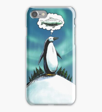 Penguin christmas wish iPhone Case/Skin