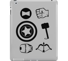 The Avengers all Symbols Nerdy Must Have iPad Case/Skin