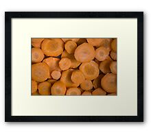 Chopped  Carrots  Framed Print