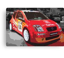 Rally Car 1 Canvas Print