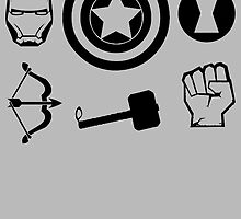 The Avengers all Symbols Nerdy Must Have by peetamark