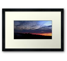 0100 - HDR Panorama - Sunset Framed Print
