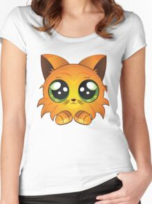 Red kitten Women's Fitted Scoop T-Shirt