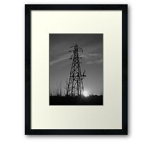 Sihouetted Electric Framed Print