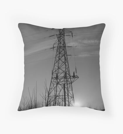 Sihouetted Electric Throw Pillow
