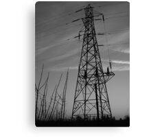 Sihouetted Pylon Canvas Print