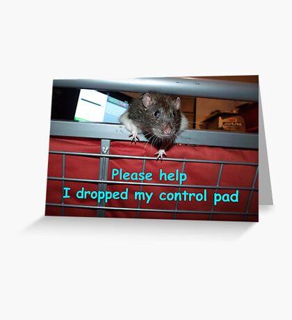 gamer rat Greeting Card