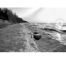 Frozen Waves B&W Photographic Print