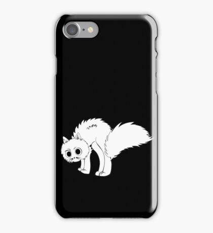 Cute cartoon white kitten iPhone Case/Skin