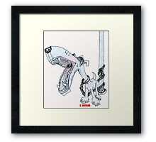 Leashed Framed Print