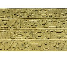 Hieroglyphs 1 Photographic Print