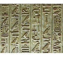 Hieroglyphs 2 Photographic Print