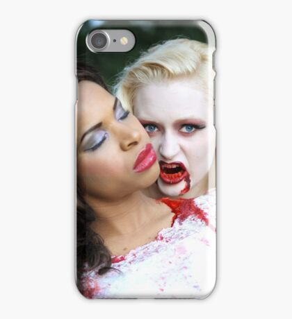 A Hungry Vampire and Her Victim iPhone Case/Skin