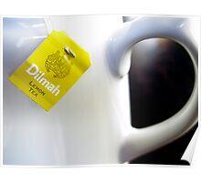 Teapot with Tea Bag Poster