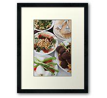 Hummus and falafel  Framed Print