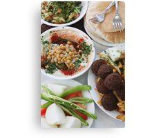 Hummus and falafel  Canvas Print