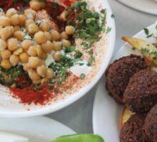 Hummus and falafel  Sticker