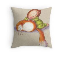 Poes Soes Throw Pillow