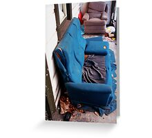 STUDENT COUCH SOFA PORCH Greeting Card