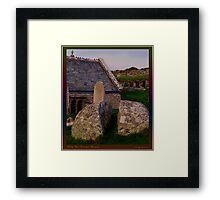 The St. Levan Stone Framed Print