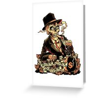 Rich Skull Greeting Card