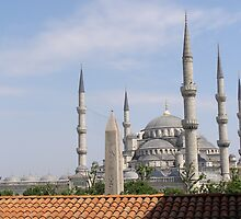 Blue Mosque Behind the Obelisk by Anita Donohoe