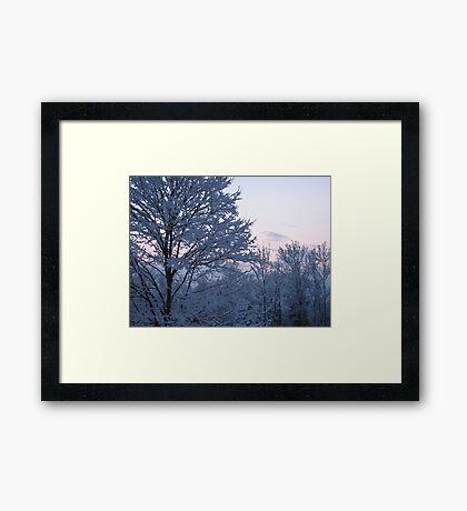 Blue Scene Framed Print