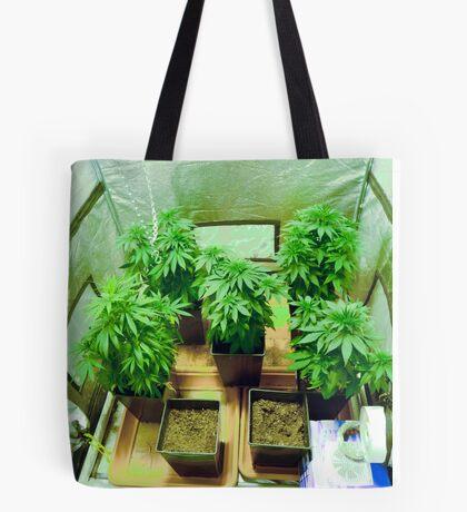 Home Grown Cannabis plants.  Tote Bag