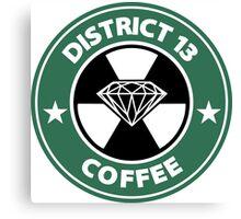 Starbucks District Thirteen Hunger Games Canvas Print