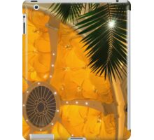 Happy Yellow Silk Decor With Stars iPad Case/Skin