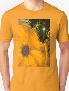 Happy Yellow Silk Decor With Stars T-Shirt