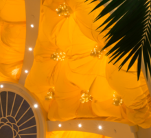 Happy Yellow Silk Decor With Stars Sticker