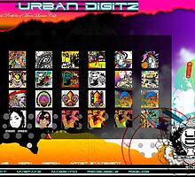 UrbanDigitz.com Website Artwork Page #1 by Urban Digitz
