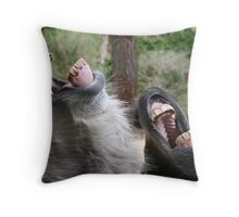 Laughing Asses Throw Pillow