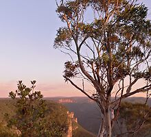 Sunrise Cliffline towards Bell from Anvil Rock Track by STEPHEN GEORGIOU
