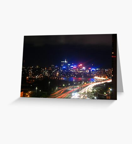 Sydney Streaks Greeting Card