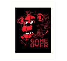 Five Nights At Freddy's Pizzeria Game Over Art Print