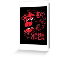 Five Nights At Freddy's Pizzeria Game Over Greeting Card