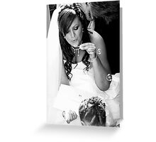 contented bride Greeting Card