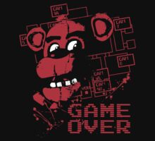 Five Nights At Freddy's Pizzeria Game Over by DeepFriedArt
