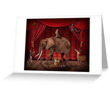 The performance is over Greeting Card